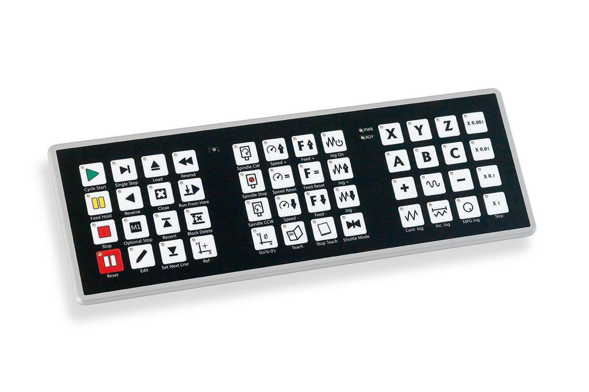 PoNETkbd48 is rugged, watterproof and dustproof CNC keyboard