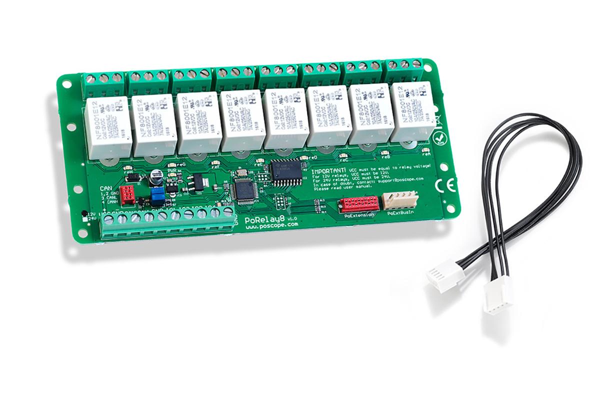 PoRelay8 - CAN relay board