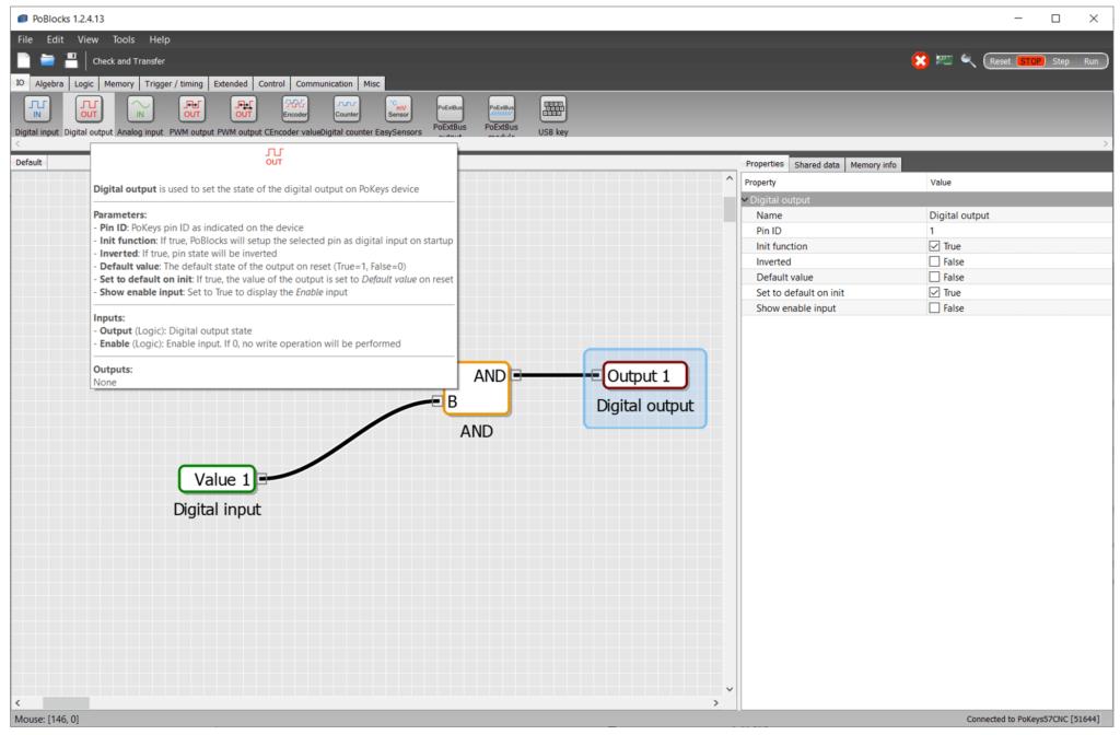 PoBlocks graphical programming